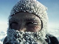 Человек на морозе
