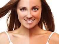 Разница между загорелой кожей и незагорелой