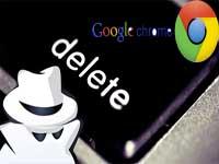 удаление истории в Google Chrome
