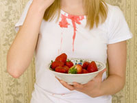 Пятна от ягод на одежде