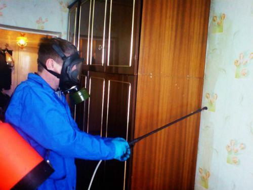Защитный костюм для обработки помещения от кловпов