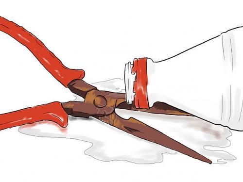 Удаление ржавчины уксусом