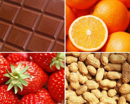 шоколад, фрукты