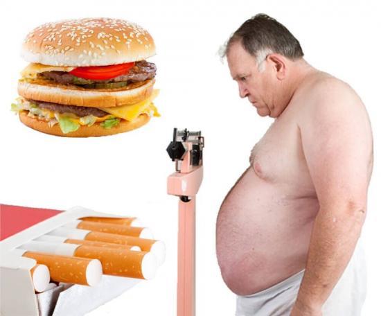 Ожирение и вредные привычки