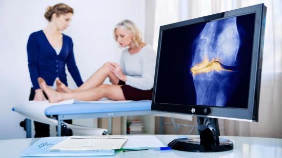 Обследование коленных суставов