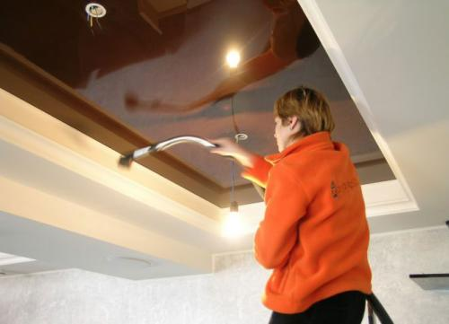 Очищение потолка
