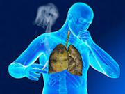 синий человек с сигаретой