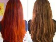 Волосы, покрашенные хной