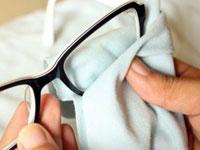 Протирание очков